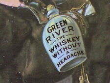 GREEN RIVER Whiskey KENTUCKY Distillery SIGN -Date 1899 & Mule & Black Gentleman