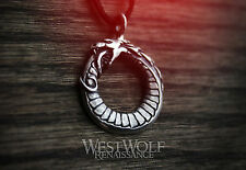 Viking Ouroboros Dragon Pendant in .925 Sterling Silver -- Norse/Snake/Necklace