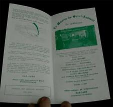 Le Moulin de Saint-Laurent, on the Island of Orleans, Vintage Tour Pamphlet, VGC