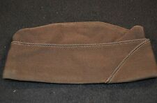 WW2 US Army Officers' Garrison Overseas Cap Hat 6 7/8 Chocolate Brown