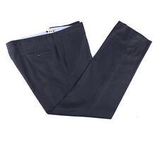 Incotex Pants Size 40 Charcoal Flannel Wool Trousers