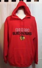 Chicago Blackhawks Red Pullover Hoodie by Reebok Face Off Collection - Size XL
