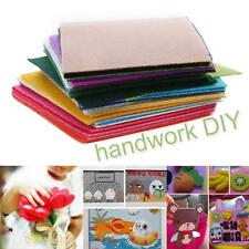 40PCS 10x15cm Rainbow Colorful Felt Sheets DIY Craft Polyester Wool Blend Fabric