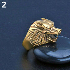 1Pcs Man Wolf Head Tooth Shape Punk Finger Knuckle Cool Ring Jewelry Natural