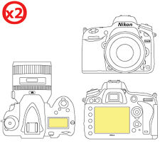 Martin Fields Overlay Screen Protector Guard Film for Nikon D600 Twin Pack