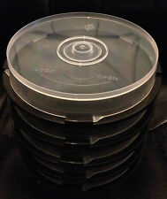 10 Disc Empty CD/DVD/BD-R Spindle Storage Tub/Cake Box - 5 Pack