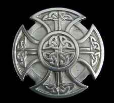KNOTWORK CELTIC CROSS BELT BUCKLE A BEAUT! BUCKLES