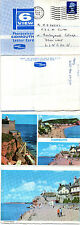 1973 6 VIEWS OF SIDMOUTH DEVON PU LETTERCARD