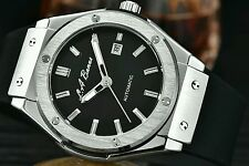 MENS BIG LA BANUS AUTOMATIC WATCH BANG STAINLESS STEEL MILITARE BLACK TAG + BOX