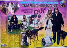 CHRISTIAN DELAGRANGE et SHEILA =  coupure de presse 2 PAGES 1974 + PIERRE BILLON