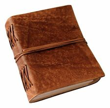 Brown Classic Luxury Handmade Genuine Leather Journal - Leather Cord Coptic Bind