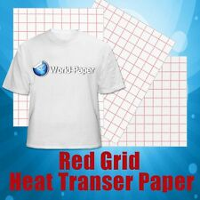 RED GRID INKJET HEAT TRANSFER FOR LIGHT COLOR TSHIRTS - 11 x 17 - 25 SHEETS