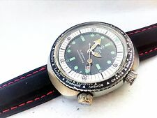 +video Vintage MORTIMA DIVER GMT SUPER DATOMATIC WATCH mechanical GOOD RUNNING