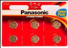 8 x Panasonic CR2032 3V Lithium Coin Cell Battery 2032