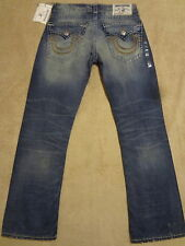 TRUE RELIGION RICKY Super T Bleached & Ripped  Jeans 32/ 33 GREATEST HITS $398+