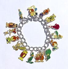Flintstones Bracelet Pebbles Bamm Bamm Barney Betty Wilma Fred Dino +++Charms