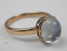 Edwardian Antique 9ct 375 Gold Moonstone Cabochon Ring Size O