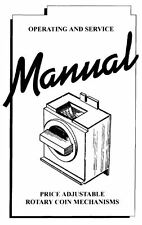 Antares Rotary Coin Mechanisms Manual  - sent to PP email as a pdf - not printed