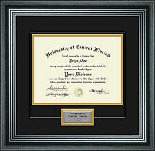 "Diploma Frame with School Colors and Personalization for 8.5"" x 11"""