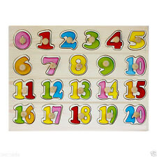 0-20 Wooden Number Puzzle Board for kids, Learning Educational Maths Toys