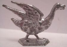 Old Lead Attacking Goose Toy Figure for Christmas Village or Farm