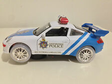 Electric Police Cop Car Kids Toy Flashing Lights & Wheels Sound Bump & Go Action
