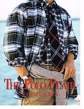 PUBLICITE ADVERTISING 094  1992  RALPH LAUREN haute couture homme THE POLO PLAID
