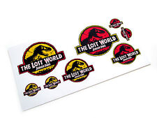 JURASSIC PARK - THE LOST WORLD 'DIE CUT' STICKERS - CLASSIC LOGO'S - 8 IN TOTAL!