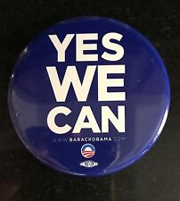 """Obama Campaign Pin Original """"Yes We Can"""" with union made logo"""