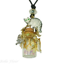 Kirks Folly Curious Kitties in a Bottle Necklace with Charms ~2017 New Release~