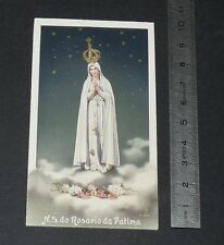 CHROMO 1951 IMAGE PIEUSE CATHOLICISME HOLY CARD NS DO ROSARIO DA FATIMA PORTUGAL