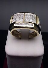 Men's New Wedding/Engagement Band Of Real 10k Yellow Gold 0.39 CT Diamond Ring