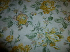 100% Cotton Fabric RJR Celebrating Style Gold Floral green Accents on Cream 3 YD