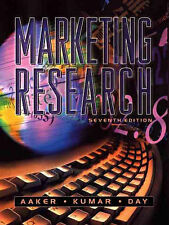 David A. Aaker, V. Kumar, George S. Day Marketing Research 7th Ed. Very Good Boo