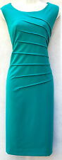 Calvin Klein office career green pleated classic womens quality dress sz 10 new