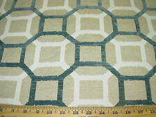 ~1 1/8 YDS~MODERN GEOMETRIC~CUT VELVET~LINEN UPHOLSTERY FABRIC~FABRIC FOR LESS~