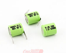 3x Ni-MH Battery 1/3AA 350mAh 14*16mm Emergency Exit Entrance Power Supply w/Tab