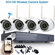 4pcs HD 720P WIFI IP Camera System 4CH Wireless NVR Outdoor Security Home Video