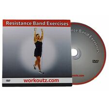 WORKOUTZ RESISTANCE BAND EXERCISE DVD VIDEO GUIDE FOR WORKOUT TUBES FLAT BANDS