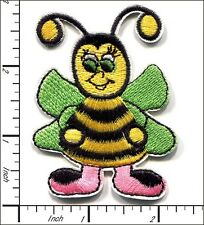 10 Pcs Embroidered Iron on patches Fairy Bee 5.5x7cm AP017fA
