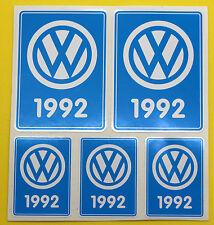 VW 92 VOLKSWAGEN Años Fecha adhesivos INTERIOR CRISTAL ESCARABAJO AUTOCARAVANA