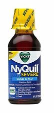 Vicks Nyquil Severe Cold - Flu Nighttime Relief Liquid, Berry, 8 oz