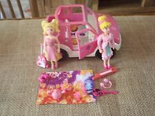 Polly Pocket Lot Dolls Jeep Car Vehicle Pink Travel Accessories Suitcase  H72