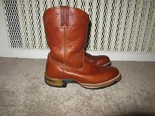 ROCKY ORIGINAL RIDE 08 BRANSON ROPER WESTERN BOOTS Men's size 10 Brown Leather