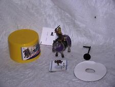 WOW! AWESOME Kenshin Uesugi Figure Running Horse Toy Car Japan! X1