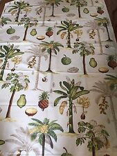 """TRAVERS & CO 'TROPICA"""" CO/LIN FABRIC msrp $220+/yd GORGEOUS BOLD colors! UK!"""