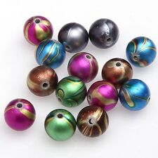 30pcs Acrylic Pave Clay Round Disco Ball Spacer Beads Mixed color DIY Wholesale