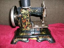 Antique Salesman Sample Child's Toy Sewing Machine Made in Germany