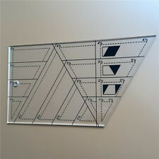 Quilting Sewing Patchwork Scale Ruler Trapezoid Polygon Foot Ladder Tailor #UI