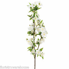 Artificial Apple Blossom Branch Cream 92cm/36 inches Spring Flowers